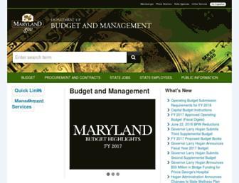 dbm.maryland.gov screenshot