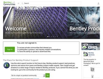 communities.bentley.com screenshot