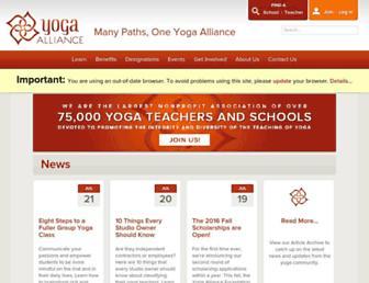 Thumbshot of Yogaalliance.org