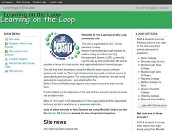 learningon.theloop.school.nz screenshot