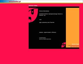 Main page screenshot of kalas.pl