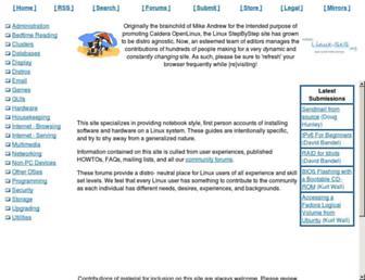 linux-sxs.org screenshot