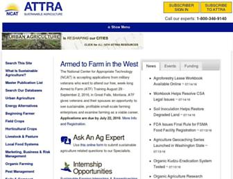 attra.ncat.org screenshot