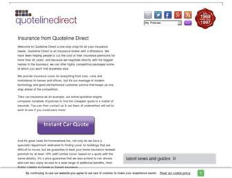 quotelinedirect.co.uk screenshot