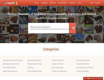 nepalb2b.com screenshot