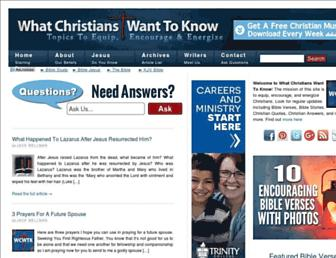 whatchristianswanttoknow.com screenshot