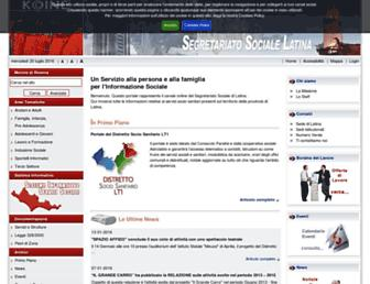 segretariatosocialelatina.it screenshot