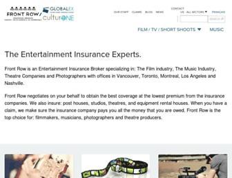 frontrowinsurance.com screenshot