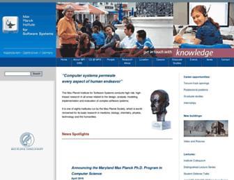 mpi-sws.org screenshot