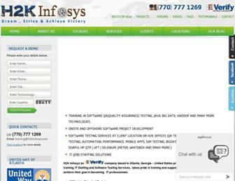 h2kinfosys.com screenshot