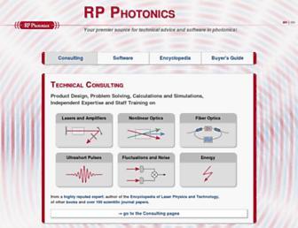 Thumbshot of Rp-photonics.com
