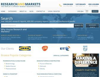 Thumbshot of Researchandmarkets.com