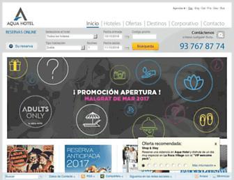 aquahotel.com screenshot