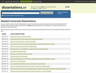 dissertations.se screenshot