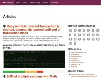 gistpages.com screenshot