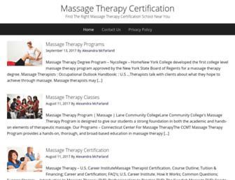 certificationmassagetherapy.com screenshot