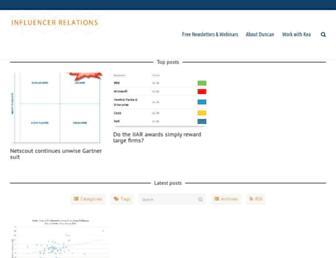 influencerrelations.com screenshot