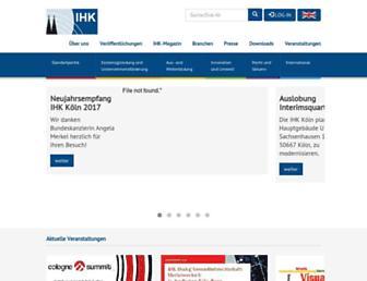 ihk-koeln.de screenshot