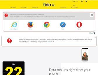 Screenshot for fido.ca