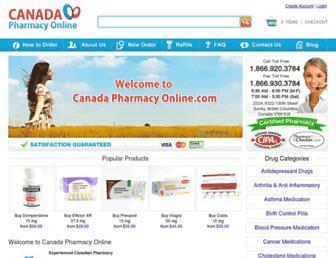 canadapharmacyonline.com screenshot