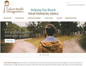 calvertwealth.com screenshot