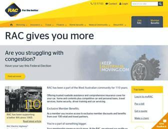 rac.com.au screenshot