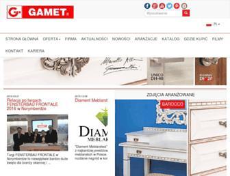 gamet.eu screenshot