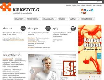 Main page screenshot of kirjastot.fi