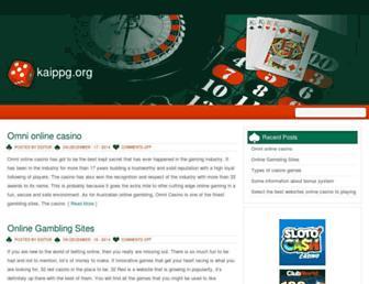 Main page screenshot of kaippg.org