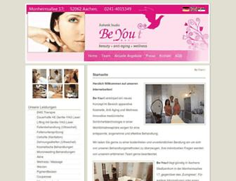 Main page screenshot of be-you-t.de