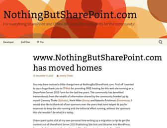 Thumbshot of Nothingbutsharepoint.com