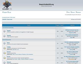 board.kolibrios.org screenshot