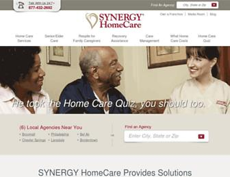 synergyhomecare.com screenshot