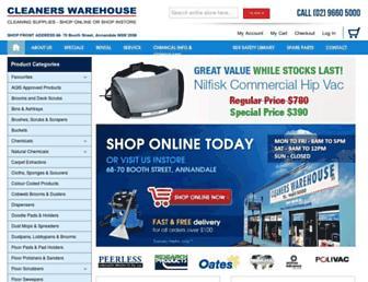 cleanerswarehouse.com screenshot