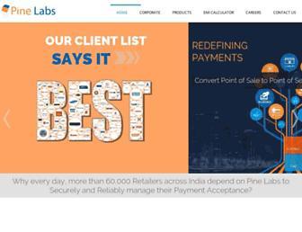 pinelabs.com screenshot