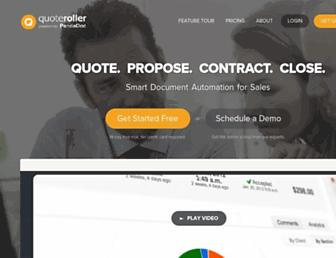 quoteroller.com screenshot
