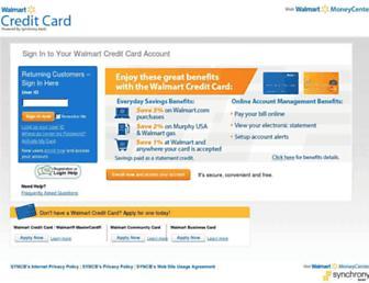 Thumbshot of Walmartcreditcard.com