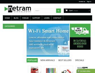 netram.co.za screenshot