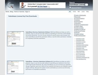 Main page screenshot of submiteaze-license-key.qarchive.org
