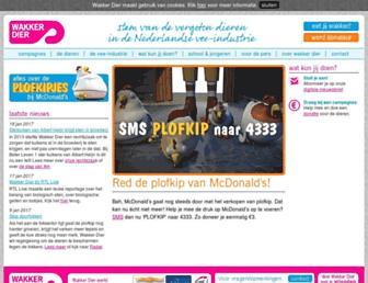 Main page screenshot of wakkerdier.nl