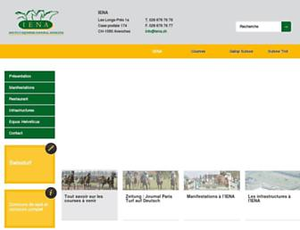 Main page screenshot of iena.ch