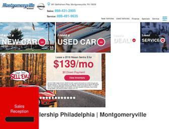 montgomeryvillenissan.com screenshot