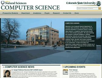 cs.colostate.edu screenshot
