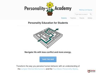 personalityacademy.com screenshot