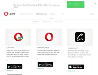 m.opera.com screenshot