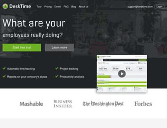 desktime.com screenshot