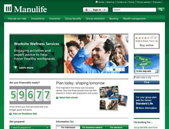 manulife.ca screenshot