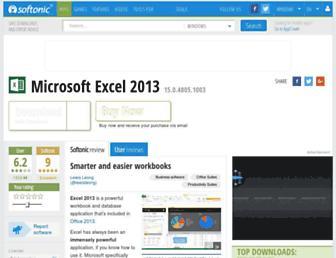 microsoft-excel.en.softonic.com screenshot