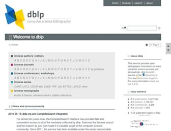 dblp.uni-trier.de screenshot