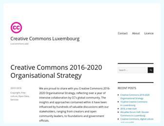 Main page screenshot of luxcommons.lu